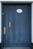 Old Colorful Blue Door in Ribe, Denmark. Oldest town in Europe Royalty Free Stock Photo