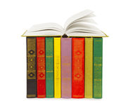 Old colorful books Royalty Free Stock Photos