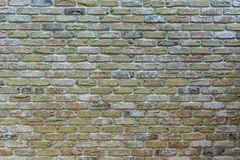 The old colorful bricks wall - texture royalty free stock photo