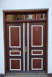 Old Colorful Brown Door in Ribe, Denmark Royalty Free Stock Photos
