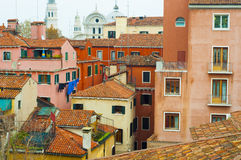 Old Colorful Buildings In Venice, Italy. Rooftops of Old Traditional Colorful Buildings In Venice, Italy stock photos