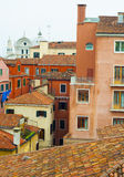 Old Colorful Buildings In Venice, Italy. Rooftops of Old Traditional Colorful Buildings In Venice, Italy stock images