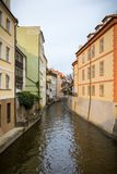 Old colorful buildings and water canal on the Kampa Island in Pr Stock Photography