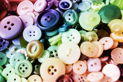 Old Colorful Buttons Detail. Photo stock photos