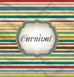 Old colorful card with advertising header for carn Stock Photography