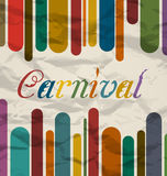 Old colorful card with text for carnival festival Royalty Free Stock Photography