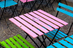 Old and colorful coffee tables Stock Images