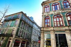 Old colorful houses and beautiful streets of Oporto