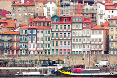 Old colorful houses in Ribeira, Porto, Portugal Stock Image