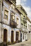 Old Colorful Portuguese Apartment Buildings Stock Photo