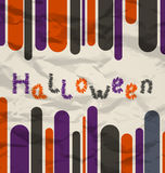 Old colorful poster with text for Halloween Stock Photo