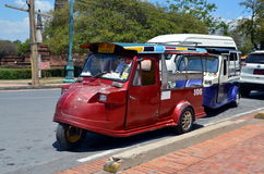 Old colorful rickshaw Stock Photos