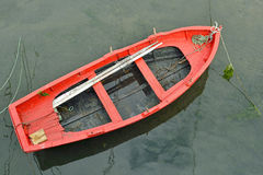 Old colorful rowing boat in Spain Stock Photo