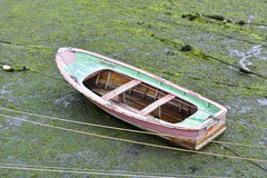 Old colorful rowing boat in Spain Stock Image