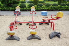 Old colorful seesaw Royalty Free Stock Images