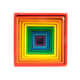 Old colorful stacking boxes toy Royalty Free Stock Photography