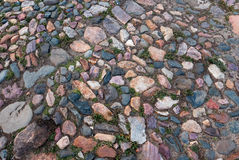 Old colorful stone pavement Royalty Free Stock Images