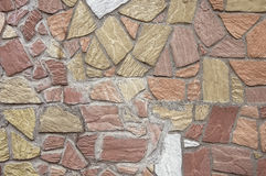Old colorful stone wall background texture Stock Image