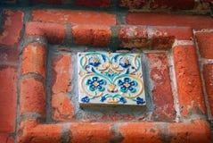 Old colorful tail. Church of Saint Nicolas in Yaroslavl, Russia. Stock Photos