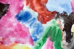 Old colorful watercolor grunge background Stock Photo