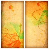 Old colorful watercolor papers Royalty Free Stock Photos