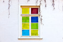 Old colorful window Stock Photos