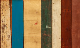Old colorful wood wall. Texture background Stock Photos