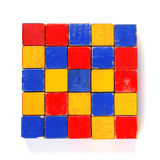Old colorful wooden blocks Stock Image
