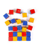 Old colorful wooden blocks Royalty Free Stock Photo
