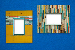 Old colorful wooden frame royalty free stock image