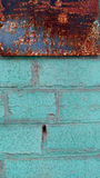 Old colorfull wall. Old wall with a contrasting  colors Stock Image