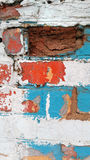 Old colorfull wall. Old wall with a contrasting  colors Royalty Free Stock Photo