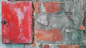Old colorfull wall. Old wall with a contrasting  colors Stock Photography