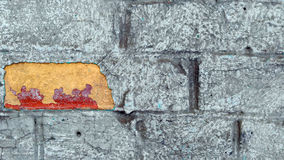 Old colorfull wall. Old wall with a contrasting  colors Royalty Free Stock Photos