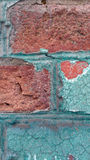 Old colorfull wall. Old wall with a contrasting  colors Stock Images