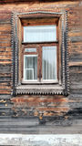 Old colorfull window. Old ethnic window with a contrasting  colors Royalty Free Stock Photography