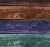 Old colorfull wooden textured background Royalty Free Stock Images