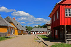 Old colorfull wooden village Stock Photography