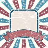 Old Colors American Background. In grunge style Royalty Free Stock Photo
