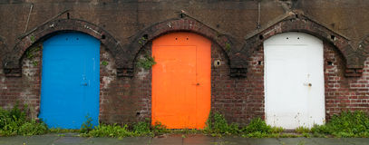 Old colour doors Royalty Free Stock Photos