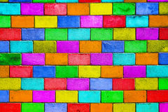 Motley background. Old colourful brick wall, motley background Royalty Free Stock Image