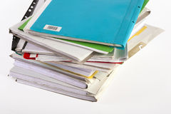 Old colourful files Royalty Free Stock Image