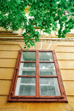 Old colourful house window Royalty Free Stock Images