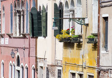 Old colourful houses in Venice Stock Photography