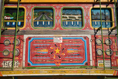Old colourful painted bus called chiva in Colombia Royalty Free Stock Photography