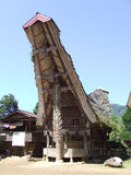 Old colourfull Tongkonan in Tana Toraja Royalty Free Stock Images
