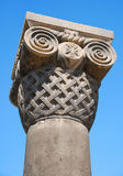 Old Column. Of medieval church stock image