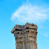 Old column in the africa sky history and nature Royalty Free Stock Photography
