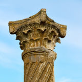 Old  column in the africa sky history and nature Royalty Free Stock Photos