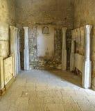 Old column in the Atrium in Porec. Old column in the Atrium of the Euphrasian basilica in Porec, Croatia Royalty Free Stock Image